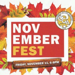 Novemberfest! Friday,November 11, 6 - 8 PM
